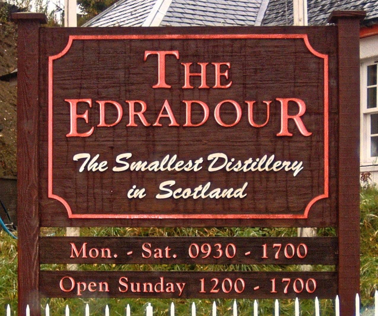 Edradour Schild