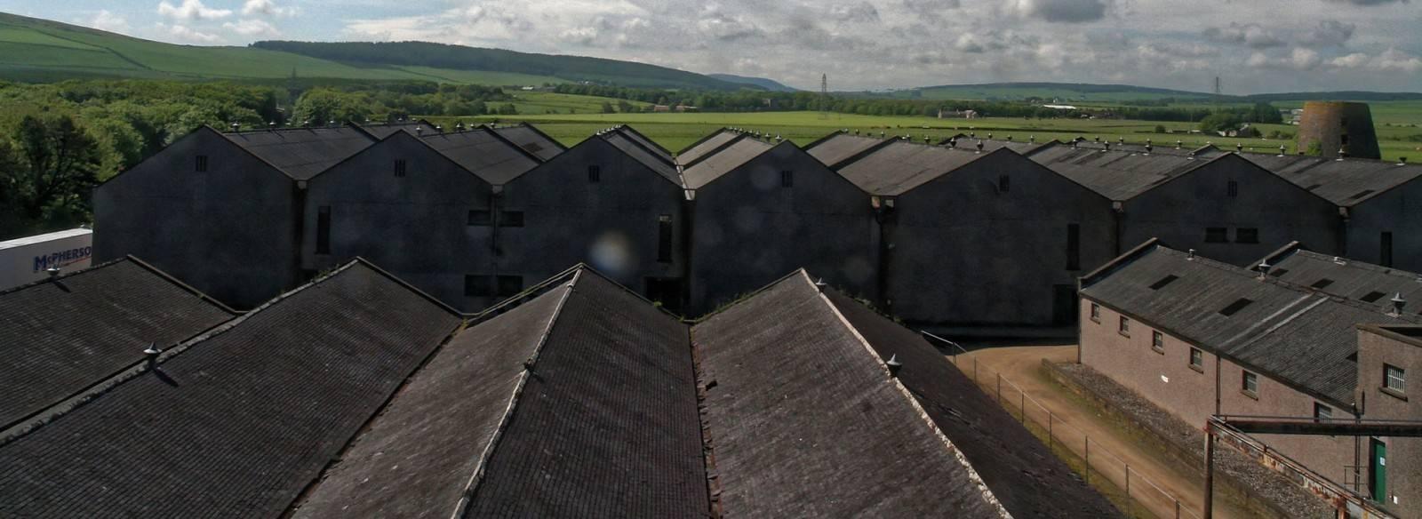Glenglassaugh Lagerhäuser von oben
