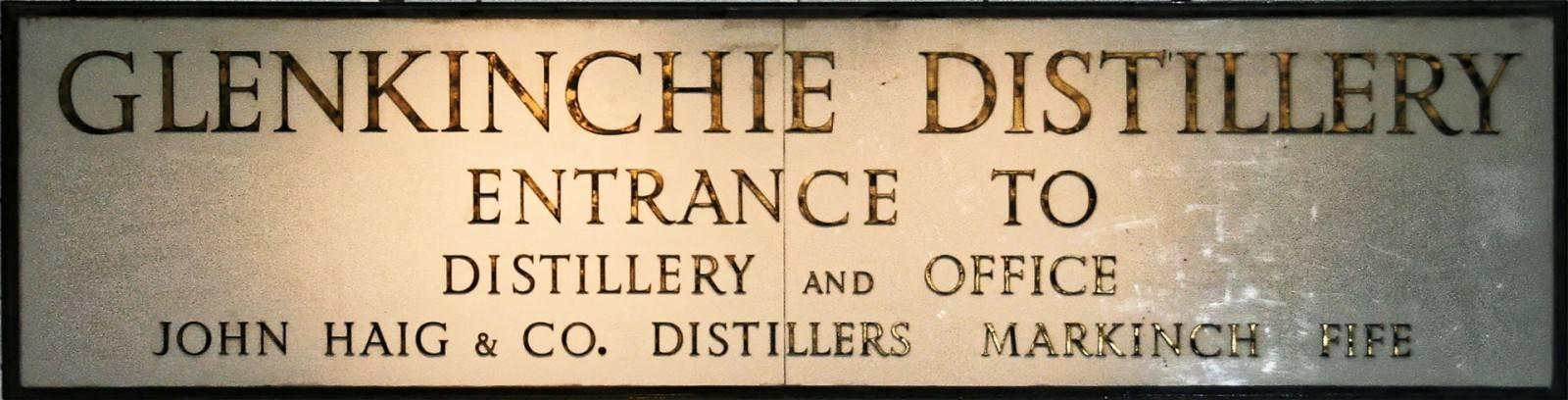 Glenkinchie Historisches Schild