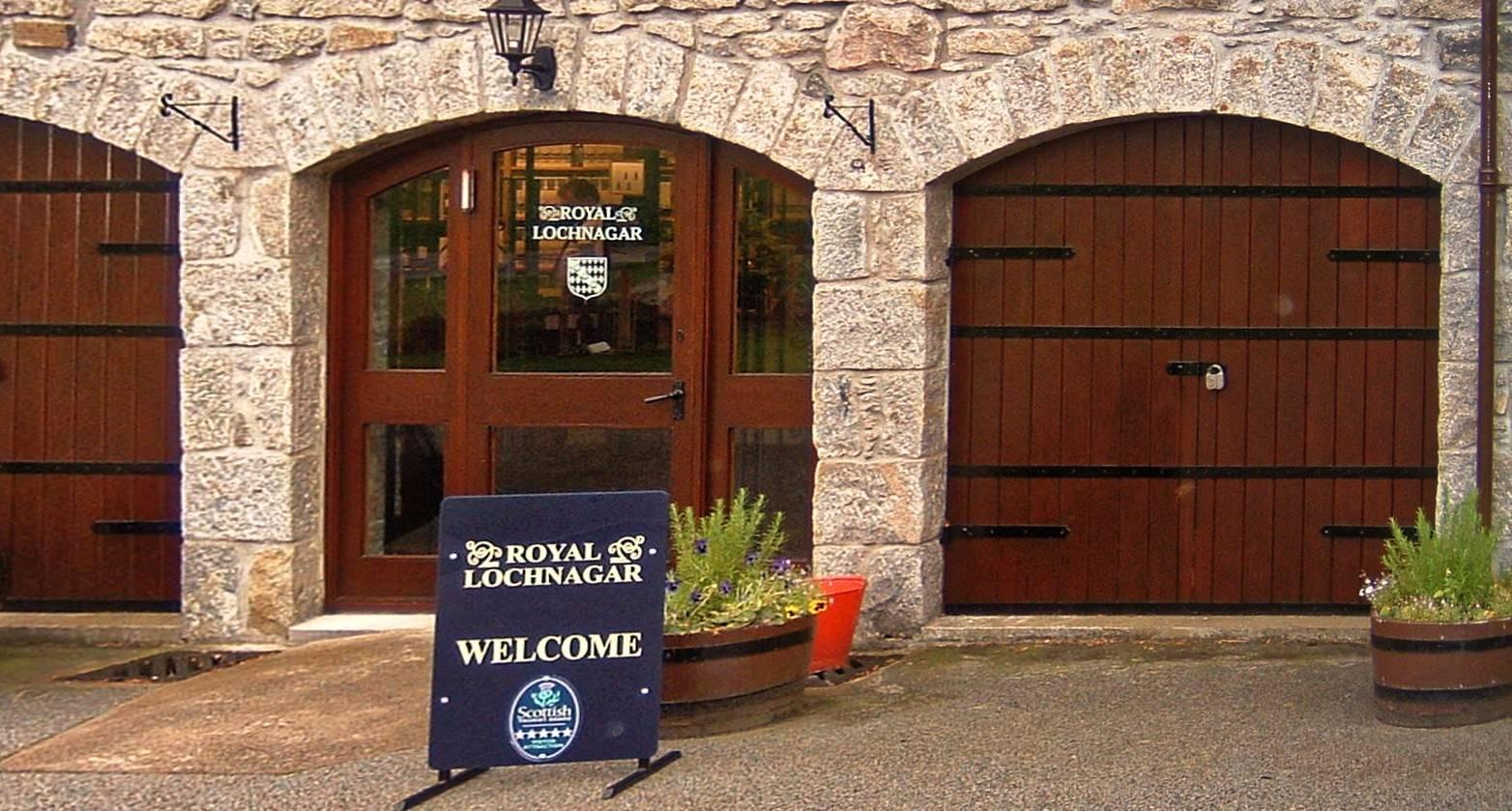 Royal Lochnagar Besucherzentrum Eingang