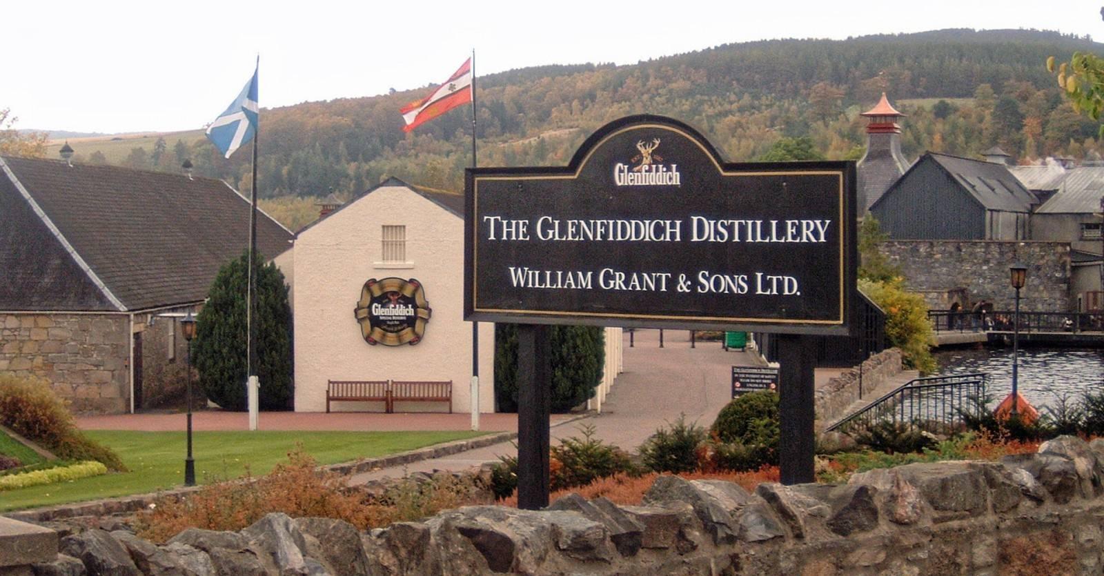 Glenfiddich Schild