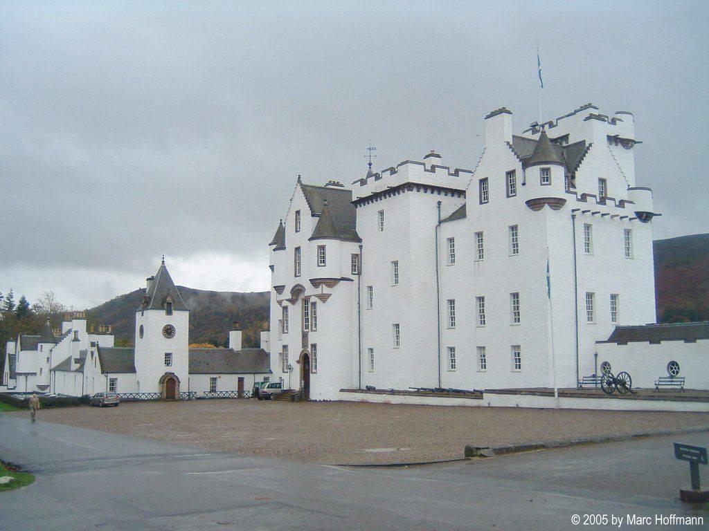 Blair Castle in den Schottischen Highlands