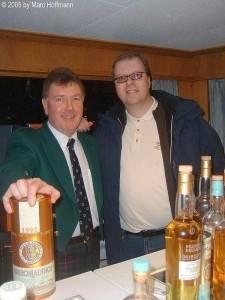 Mit Jim McEwan im Jahre 2005 auf dem Whiskyschiff in Zürich