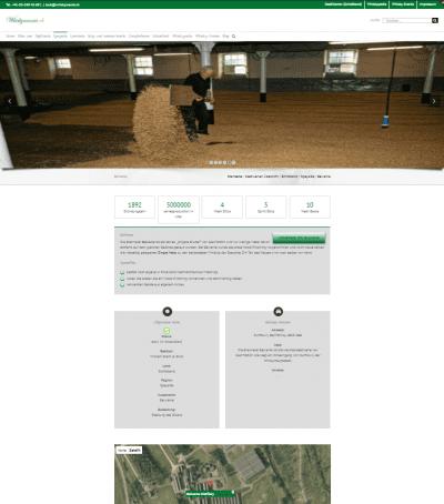 Brennerei Balvenie-Screenshot Webpage mit genauerem Google Maps Kartenmaterial