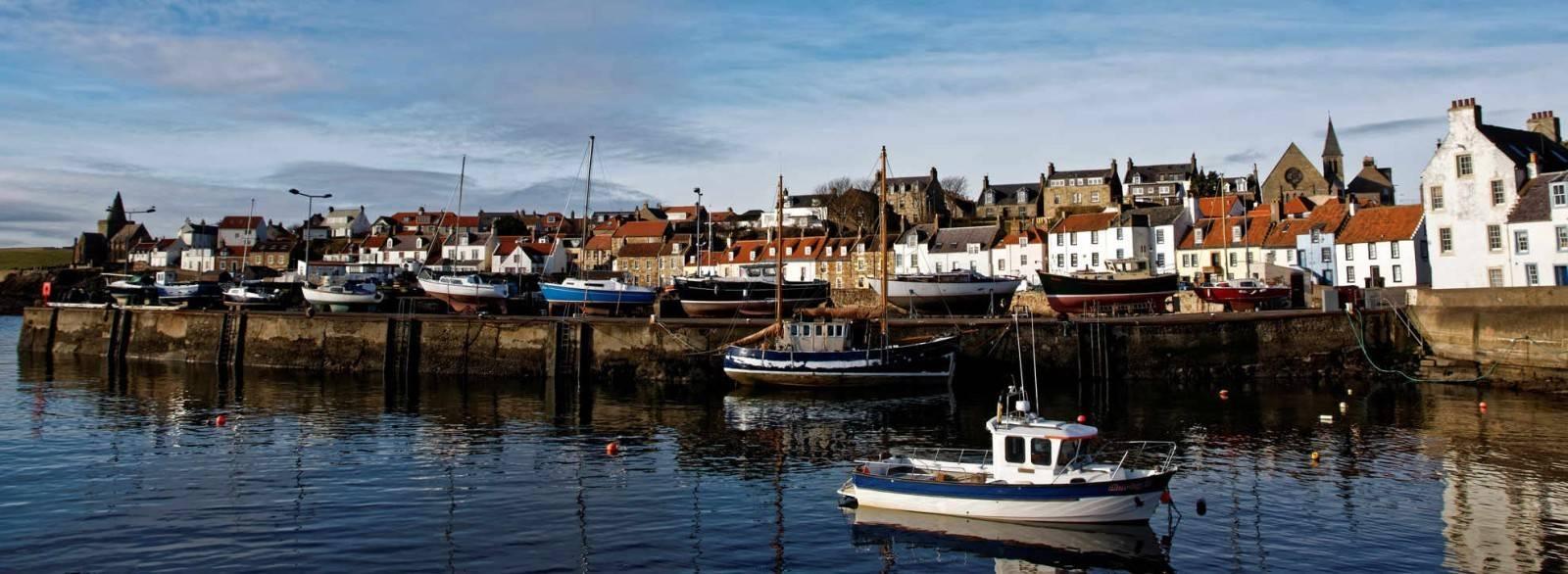 St. Monans (Schottland, Fife): Hafenanlage