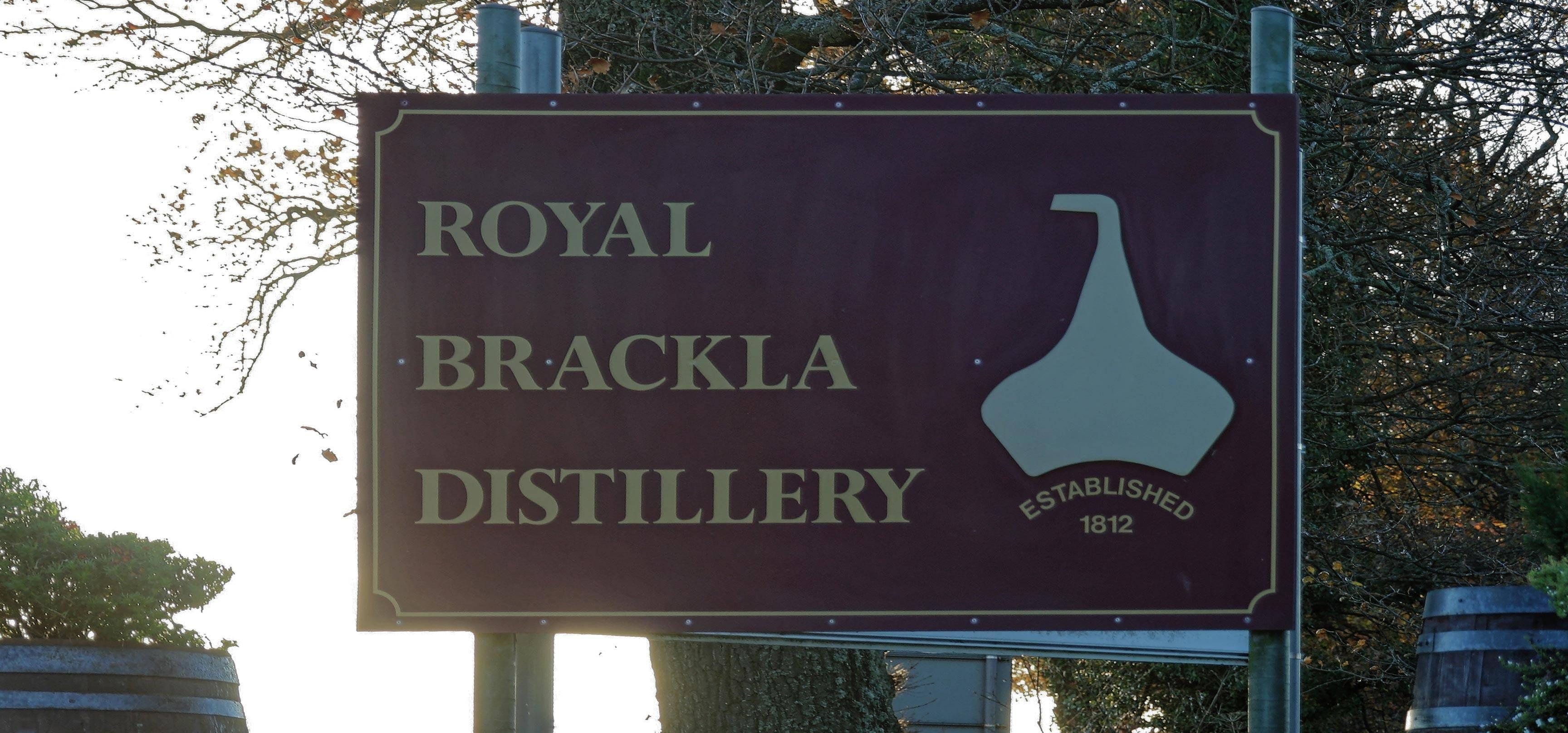 Royal Brackla - Schild