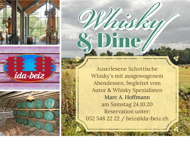 Whisky & Dine in der Ida-Beiz in Winterthur am 24. Oktober 2020